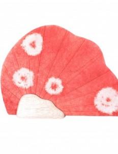 Red Shibori Paper Fan