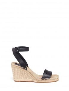 'Bima' leather espadrille wedge sandals