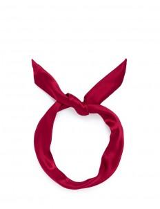 'Fork' twist silk bow headband