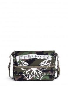 'Rockstud' butterfly camouflage print messenger bag