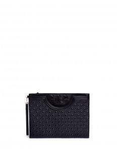 'Fleming' large quilted leather pouch