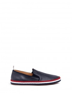 Coated canvas espadrille slip-ons