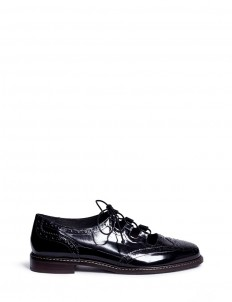 'Mr Gill' cut-out throat leather ghillie brogues