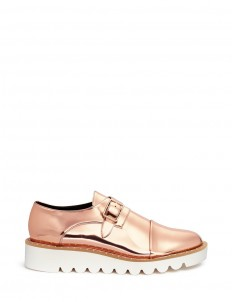 'Odette' mirror eco leather monk strap shoes
