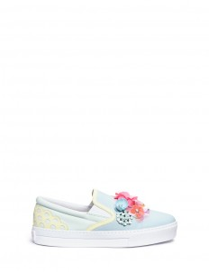 'Lilico Sequin Adele' floral paillette leather slip-ons