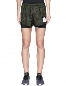 'Short Distance' camouflage print running shorts