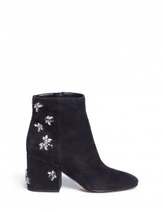 'Taye' jewelled insect suede ankle boots