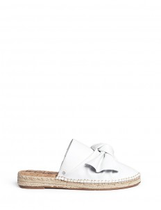 'Lynda' knotted bow leather espadrille slides