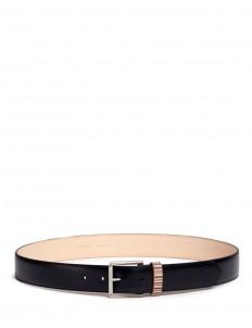 Stripe loop leather belt