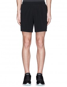 Drawstring stretch performance running shorts