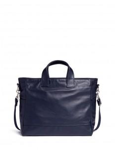 'Petit Ami' leather messenger tote bag