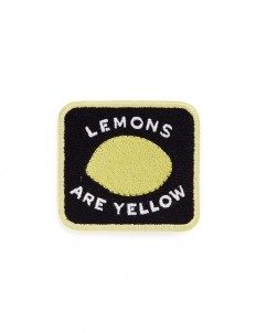 'Lemons are Yellow' embroidered patch