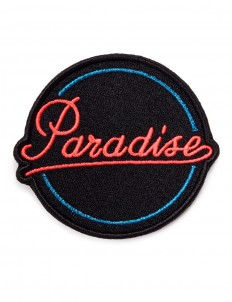 'Paradise' embroidered patch