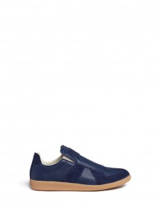 'Replica' suede trim leather slip-on sneakers