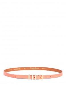 Triple loop cowhide leather belt