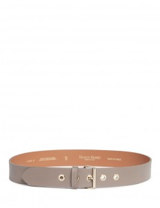 Metal eyelet cowhide leather belt