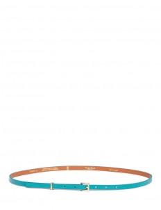 Cowhide leather skinny belt