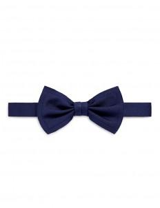 Raw edge silk bow tie