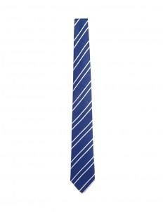 Stripe linen-silk tie