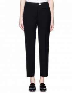 Cropped technical suiting pants