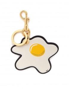 'Egg' embossed leather keyring