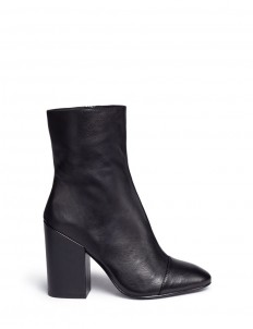 'Flora' leather mid calf boots