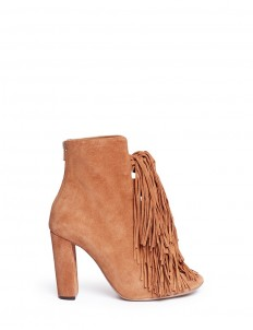 'Maya' knotted tassel suede boots