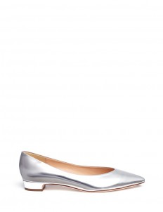 Mirror leather flats