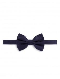 Stripe jacquard silk bow tie