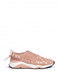 'Miss Lace' floral bead appliqué sneakers