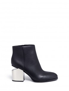 'Gabi' metal heel leather boots