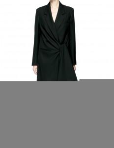 'Lorin Struct' tie waist long coat