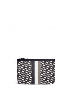 'Perspective Cube' stripe print zip pouch
