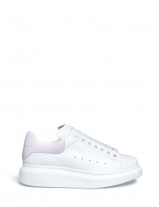 Chunky outsole leather sneakers