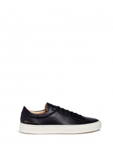 'Premium Low' pebbled leather sneakers