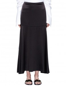'Circle Cult' crepe back satin skirt