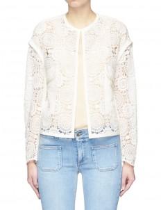 Floral crochet lace jacket
