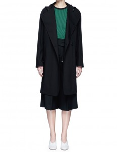'Lila' hooded wool coat