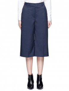 Cotton blend tailored culottes