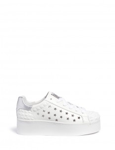 'Circus' prism perforated star leather platform sneakers