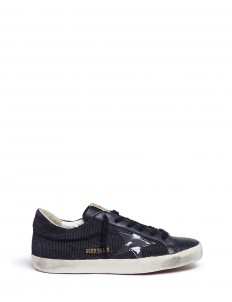 'Superstar' star patch corded sneakers