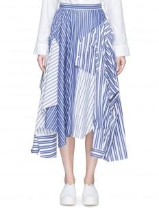 Reconstructed stripe shirting skirt