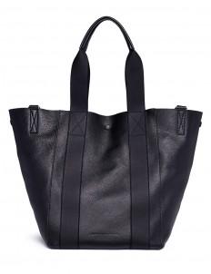 Convertible bovine leather tote bag