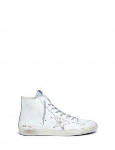 'Francy' smudged leather high top sneakers