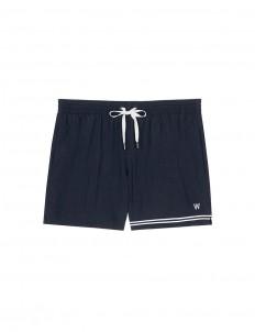 Mid length grosgrain stripe swim shorts
