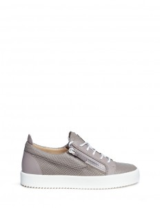 'May London' python embossed leather sneakers
