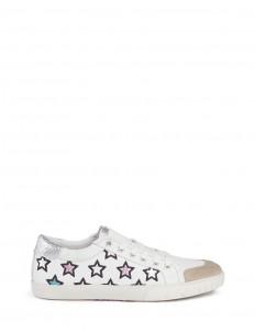 'Majestic' metallic star appliqué leather sneakers