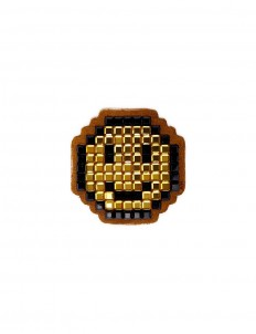 'Smiley' diamanté embellished sticker