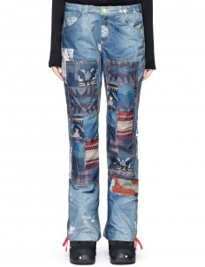 x L.A.M.B. 'Buju' patchwork denim print cargo snowboard pants