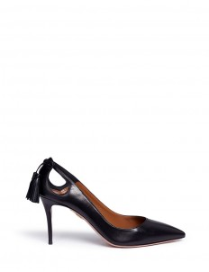 'Forever Marilyn 85' tassel bow leather pumps